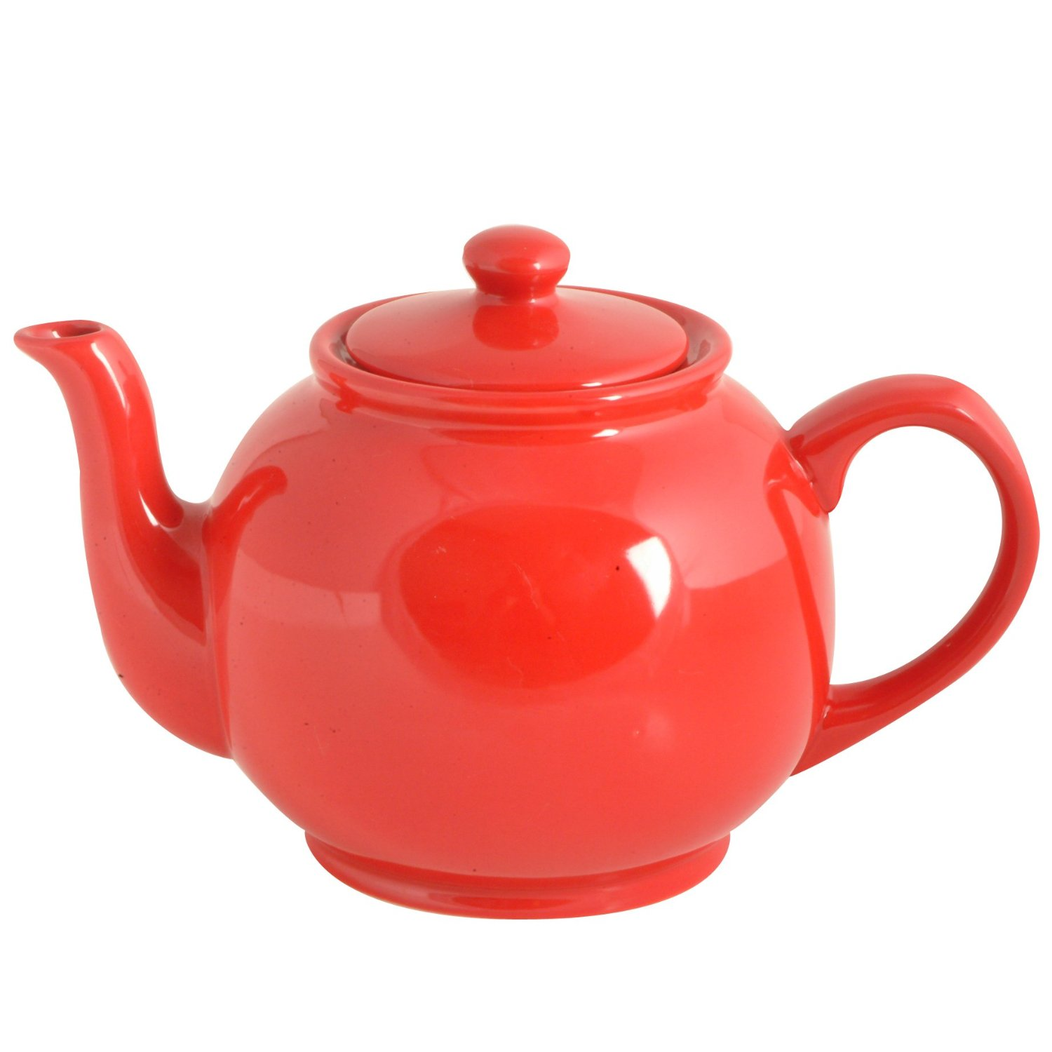 red 6 cup tea pot